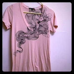 Truly Madly Deeply pale pink Graphic t-shirt